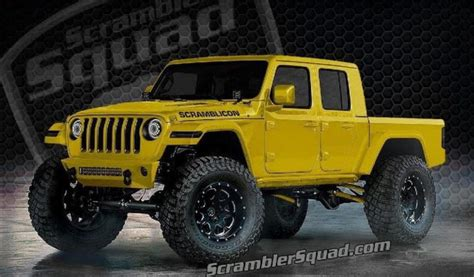 2020 Jeep Gladiator Yellow what if your 2020 jeep gladiator scrambler truck was