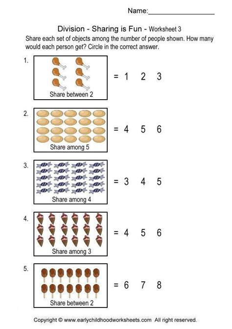 division pattern worksheet division worksheets sharing is fun math pinterest
