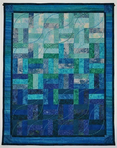 Patchwork By Sea - sea quilt pattern and wip logan stitches