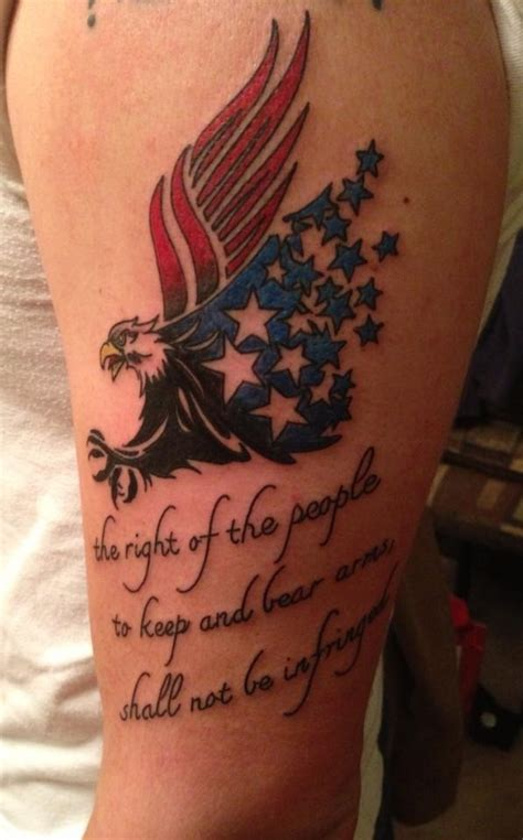 my husband s ink to support the 2nd amendment tattoo