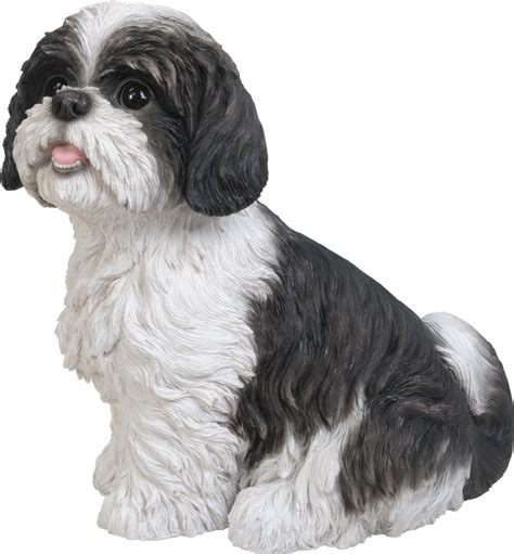shih tzu shoo shih tzu black sitting resin garden ornament 163 27 29 garden4less uk shop