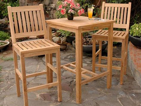 Creative of outdoor bar table and chairs set pub tables regarding teak decor classic patio plan