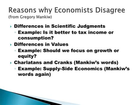 supply side economics does this really work ppt video online download ppt reasons why economists disagree from gregory mankiw powerpoint presentation id 68276