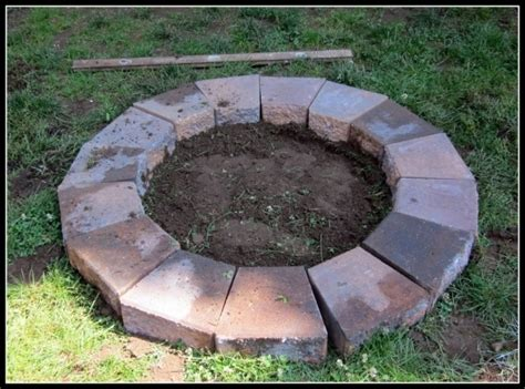 Building A Firepit With Pavers Pavers For Pit Pit Ideas