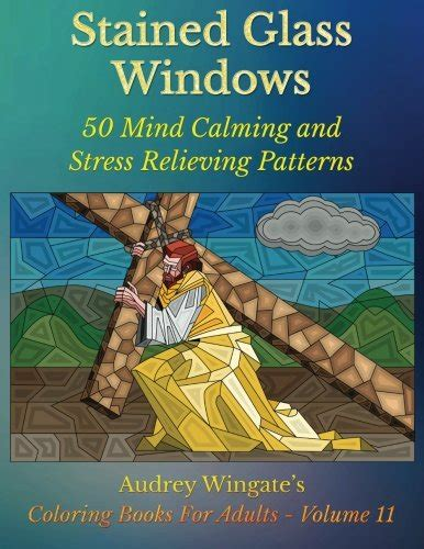 coloring book for adults stress relieving stained glass stained glass windows 50 mind calming and stress