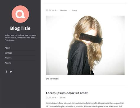 tumblr themes left sidebar 30 free tumblr themes f 252 r deinen tumblr blog