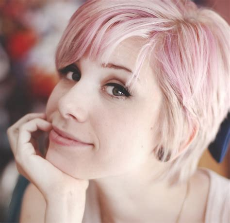 short hair in the pink with rocks bad girl pixie cropped
