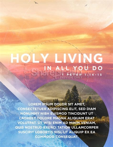 Holy Living Church Flyer Design Template Flyer Templates Living Flyer Template