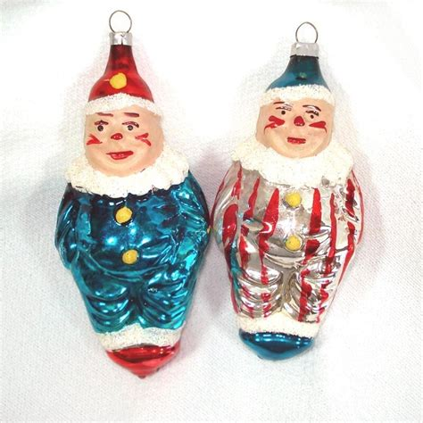 1950s christmas ornaments 2 west germany 1950s clown ornaments ebay