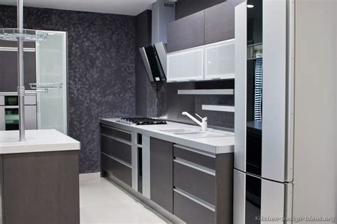 Modern Gray Kitchen Cabinets Pictures Of Kitchens Modern Gray Kitchen Cabinets