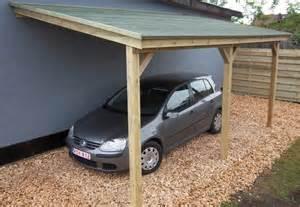 abri voiture en bois adoss 233 de 3 x 5 m