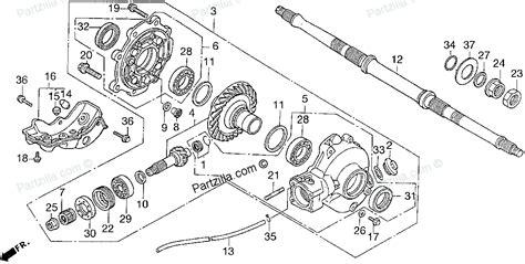 honda fourtrax 300 parts diagram honda atv parts 1996 trx300 a driven gear diagram