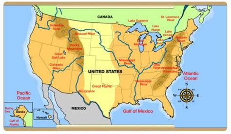 us map quiz physical features about us physical map proprofs quiz