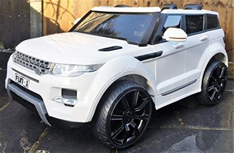 car jeep white range rover hse sport style 12v electric battery