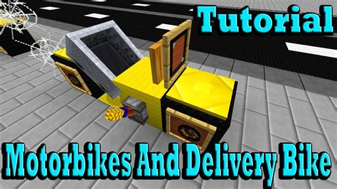 minecraft motorcycle minecraft tutorial of motorbikes and delivery bike youtube