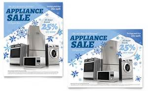 kitchen appliance sales ski snowboard instructor flyer ad template design