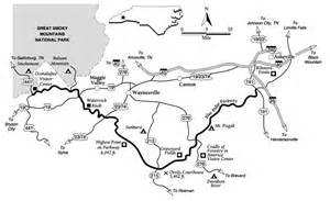 carolina blue ridge parkway map great smoky mountains