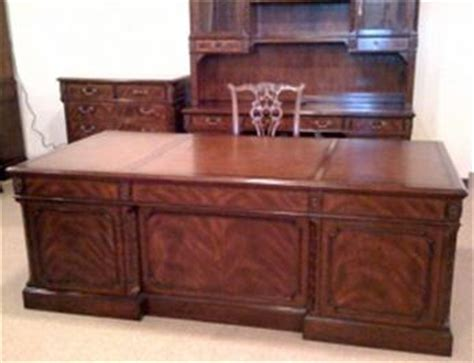 Formal Desk by Ceo Executive Desk Mahogany Leather Inlay Large Ebay