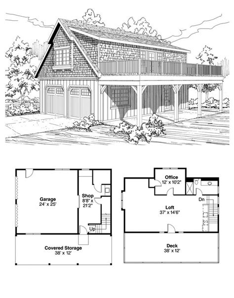 bungalow cottage craftsman garage plan 59475