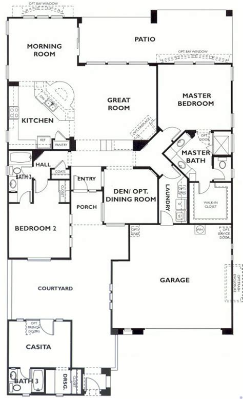 arizona home plans trilogy at vistancia libertas floor plan model with casita