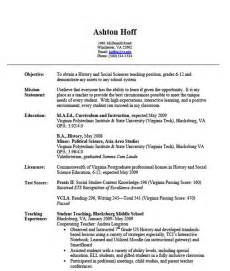 resume sles for teachers assistant resumes