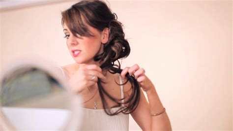 Easy & Trendy Wedding Bridal Updo Hairstyle with Clip in