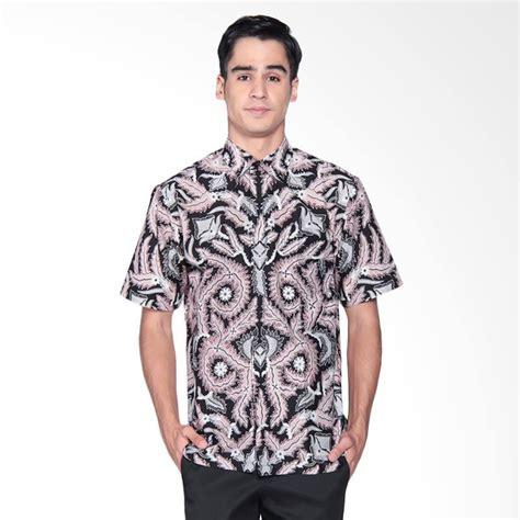 Kemeja Pria Cowok Ken Black Motof Batik jual danar hadi print motif parang samudra kemeja batik pendek pria black mix white 03 0717