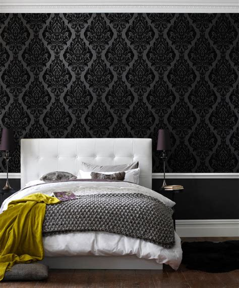 kinky bedroom kinky vintage wallpaper contemporary wallpaper by