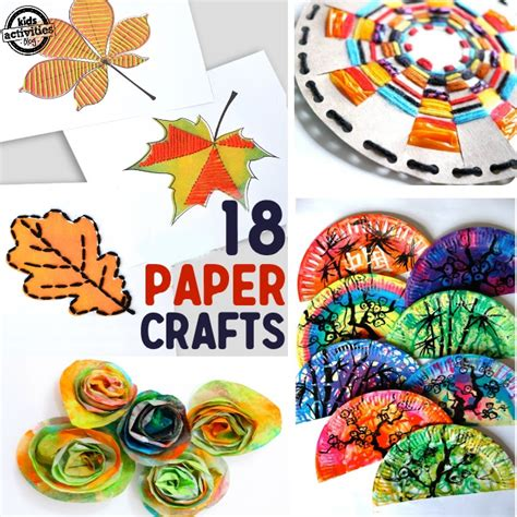 Paper Crafts Projects - 18 paper crafts for