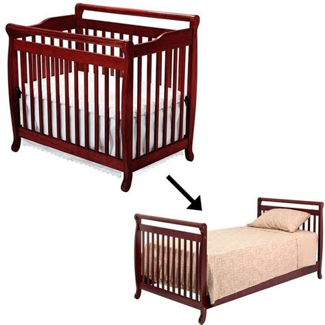 Bed Rail For Crib by Davinci Emily Mini 2 In 1 Convertible Crib With Bed