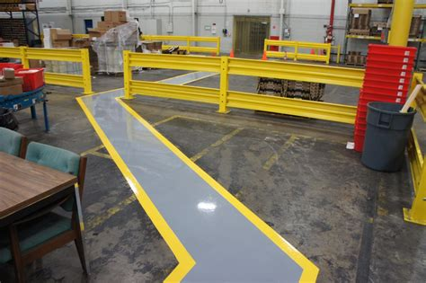 warehouse layout safety warehouse floor painting contractors need to be qualified