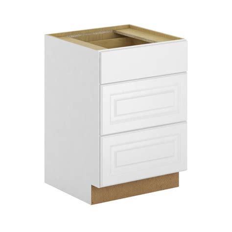 3 drawer base cabinet white hton bay assembled 24x34 5x24 in 3 drawer base