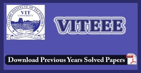 paper pattern of viteee 2016 viteee previous years paper with solution