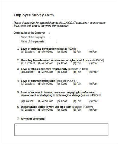 sle employer survey forms 8 free documents in word pdf