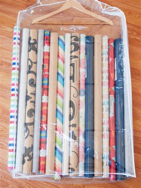 How To Make Gift Wrapping Paper At Home - 10 ways to organize your wrapping paper and gift bags hgtv