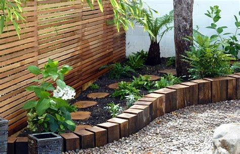 Timber Garden Edging Ideas Garden Edging For A Knockout Front Lawn In 11 Practical Ways