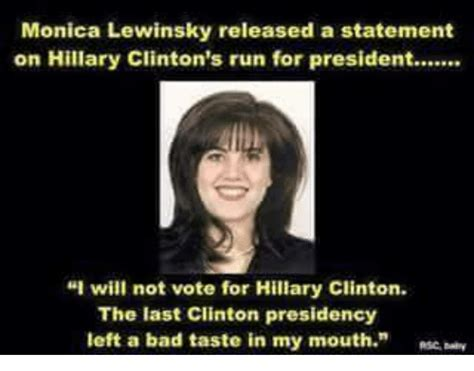Hillary Meme - funny monica lewinsky memes of 2017 on sizzle monica