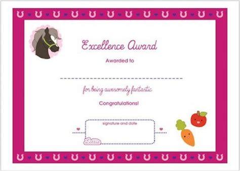 Horse Themed Award Certificate For Girls Free Printable Fun Award Summerc Heute Horseback Gift Certificate Template