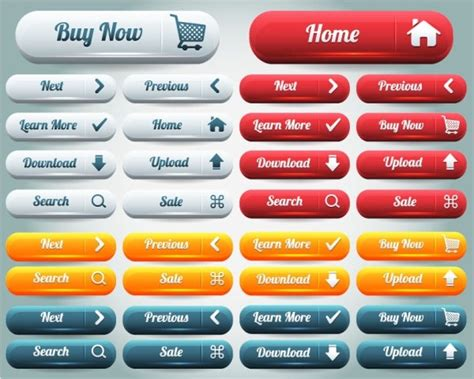 web layout button the delicate web buttons sinks 03 vector free vector in