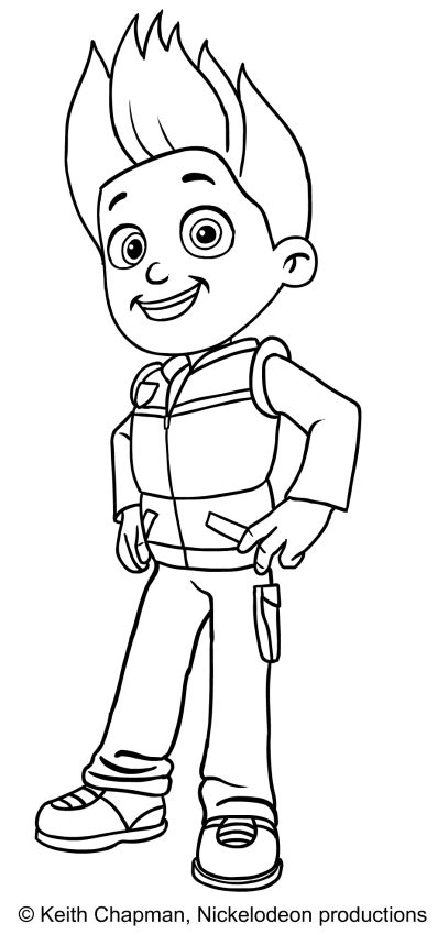 coloring pages paw patrol ryder ryder paw patrol coloring page