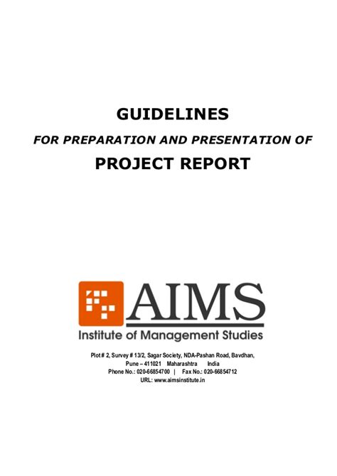 Internship Guidelines For Mba Students by Aims Internship Project Presentation Preparation