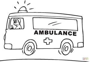 ambulance coloring pages ambulance coloring page free printable coloring pages