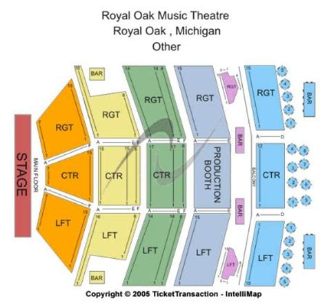 Home Theater Floor Plan by Royal Oak Music Theatre Tickets And Royal Oak Music