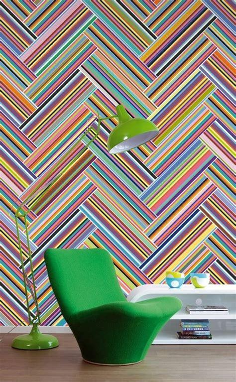 Bunte Wand Wei Streichen by Geometrische Formen Tolle Wandgestaltung Mit Farbe