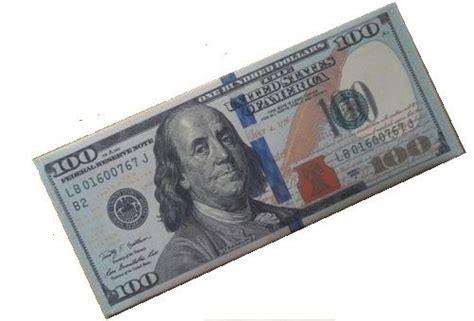 folded 100 dollar bill business card new dollar brand new us 100 dollar bill money bi fold canvas wallet