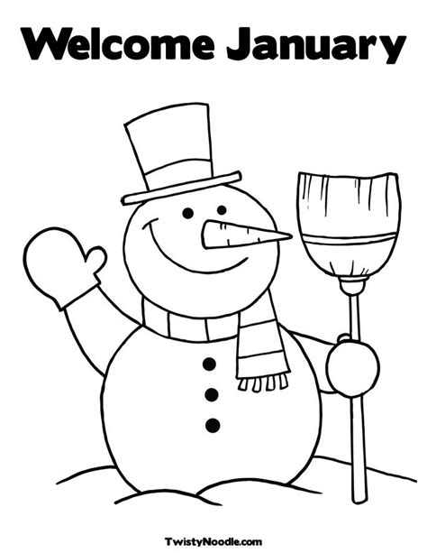 January Coloring Pages Free Printable january coloring pages new calendar template site