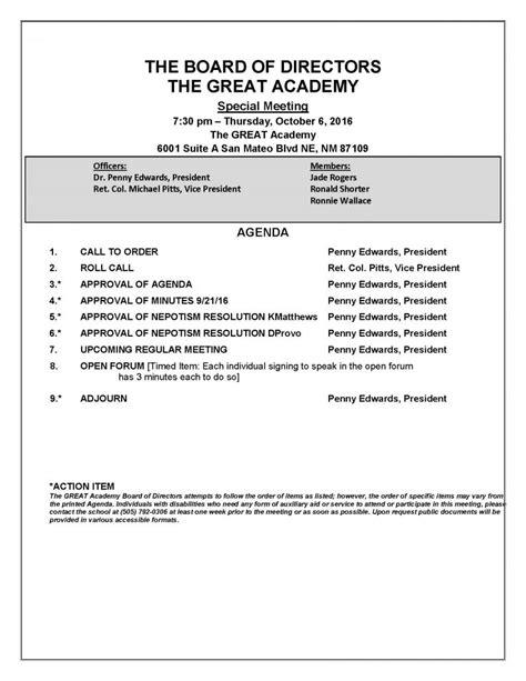 rosetta stone board of directors tga board of directors special meeting agenda 10 6 2016