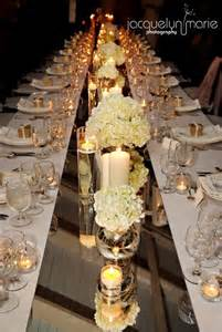 Mirror Wedding Centerpieces by Mirror Table Runner Weddingbee