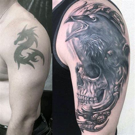 cover up tattoo ideas for men 60 cover up tattoos for concealed ink design ideas