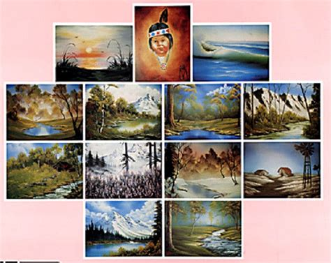 bob ross paintings on display bob ross 3 disc dvd set series 5 teaches13 paintings
